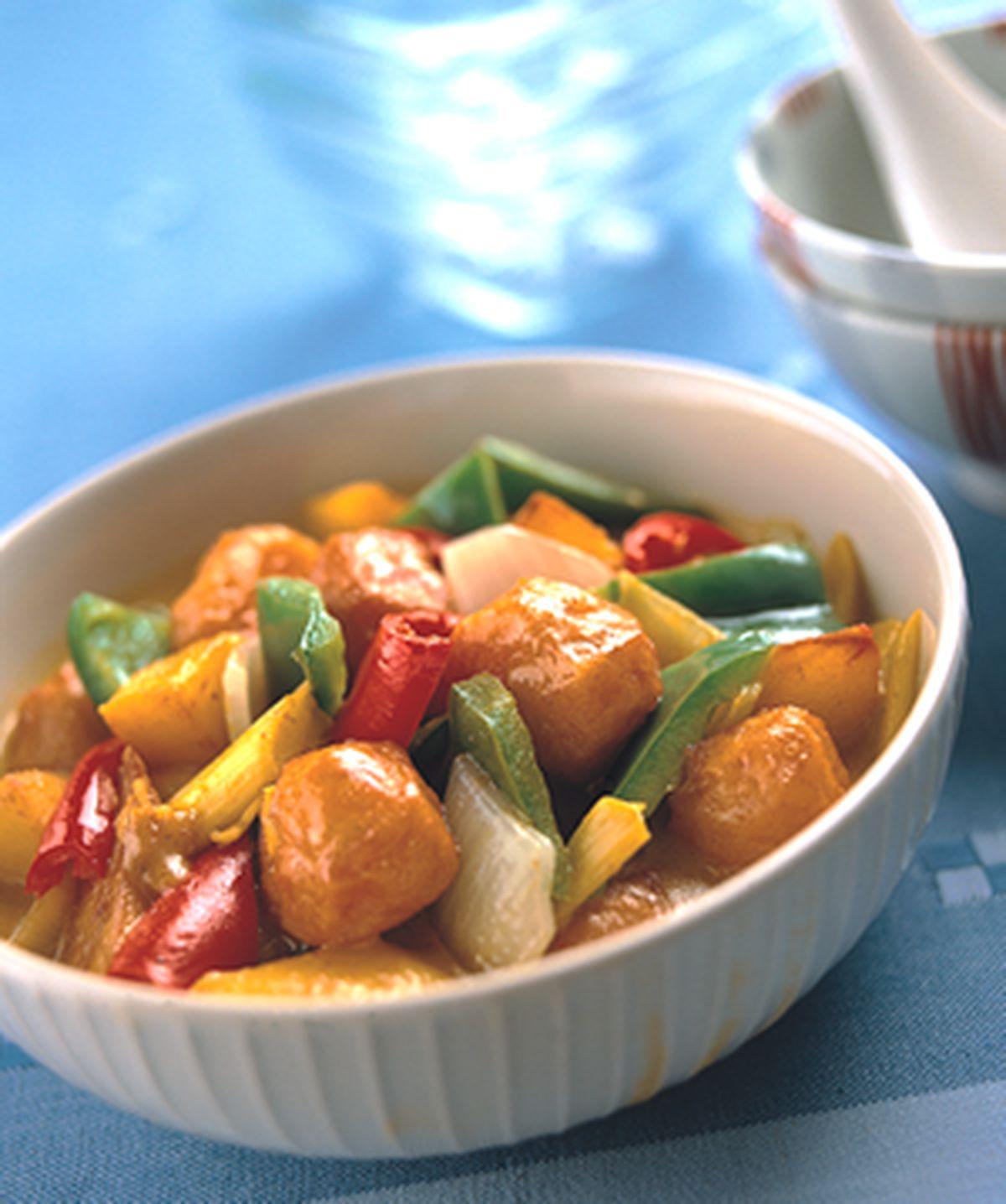 食譜:咖哩丸子