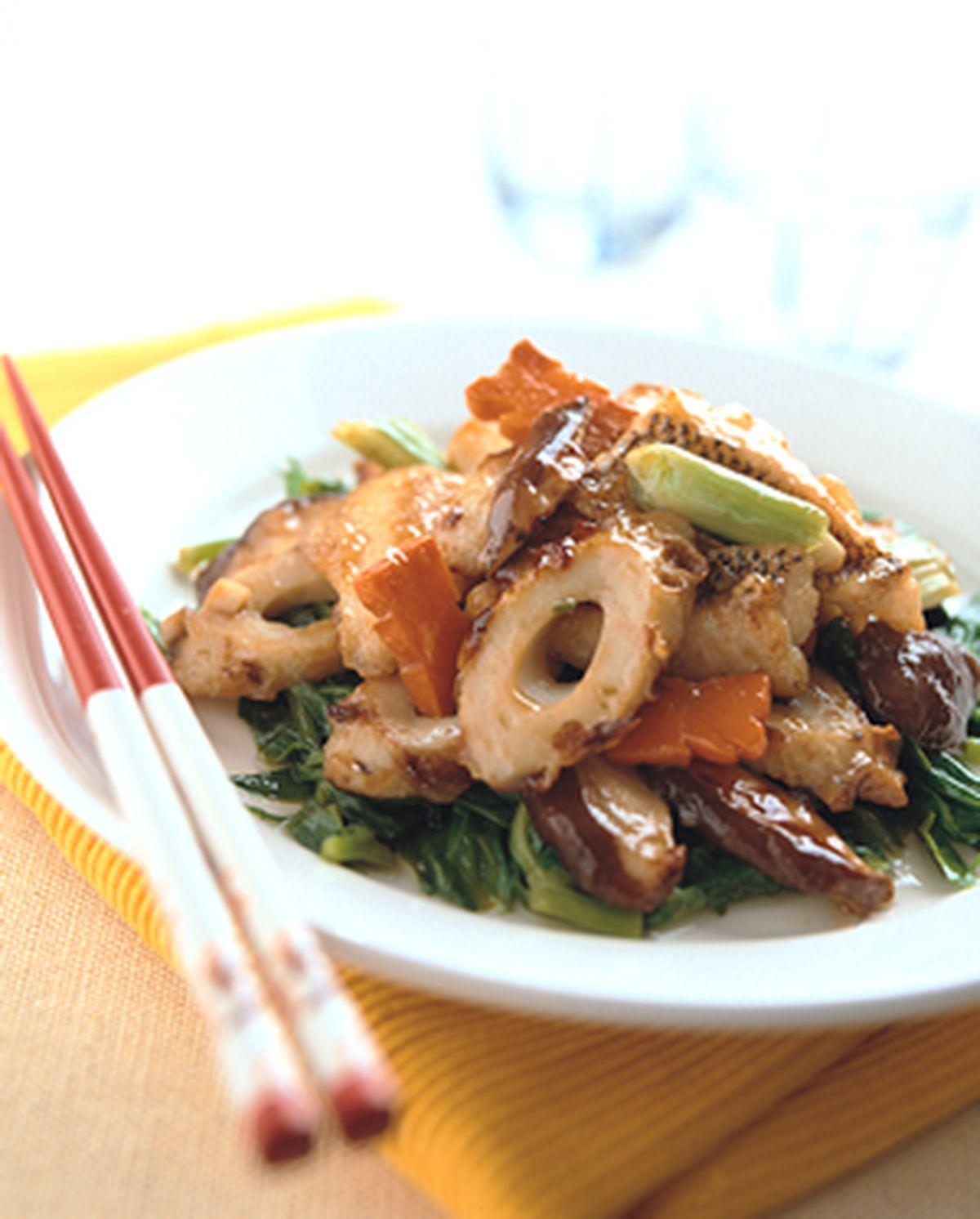 食譜:紅燒魚片竹輪
