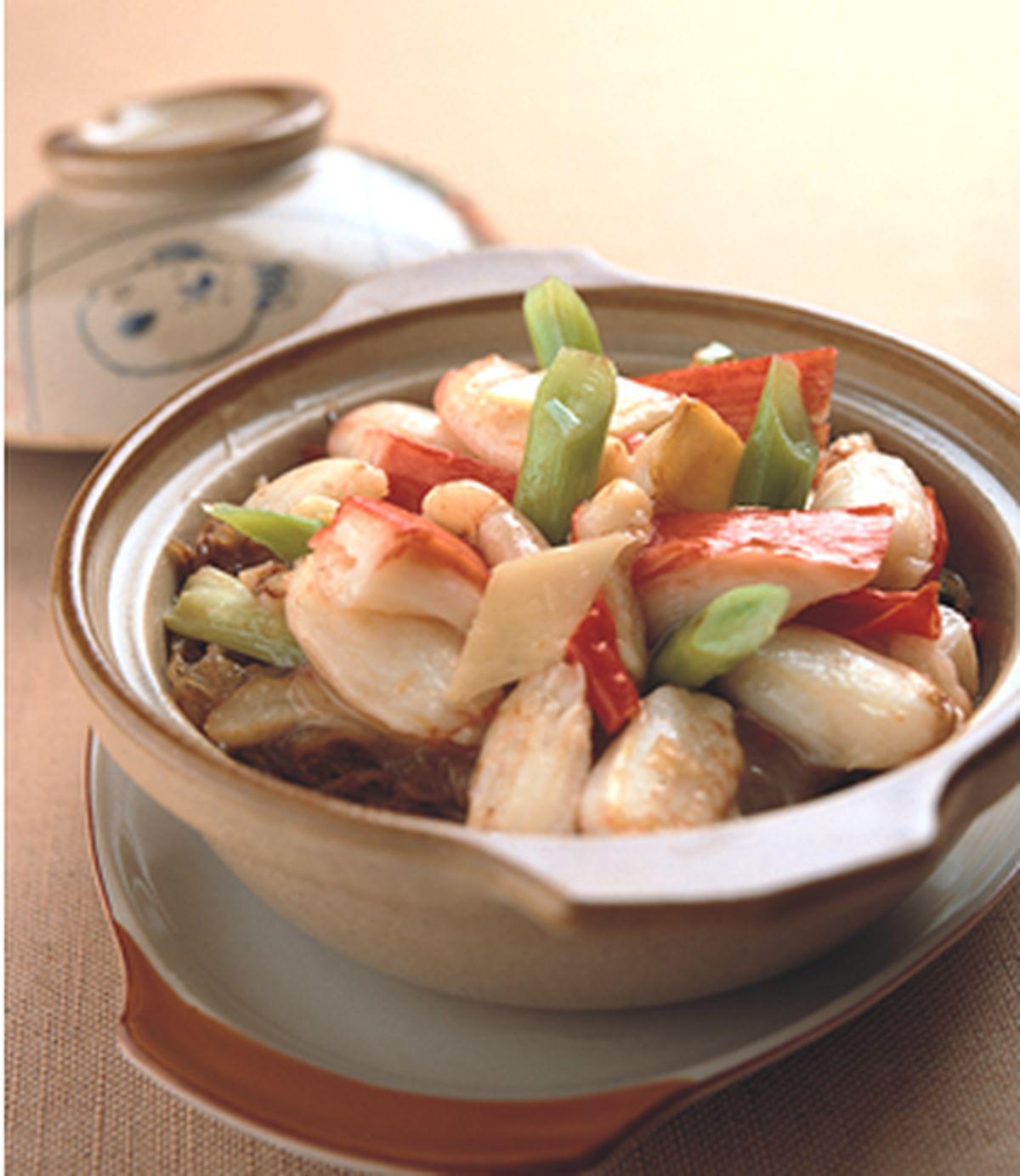 食譜:蟹柳粉絲煲