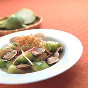 絲瓜燴蛤蜊