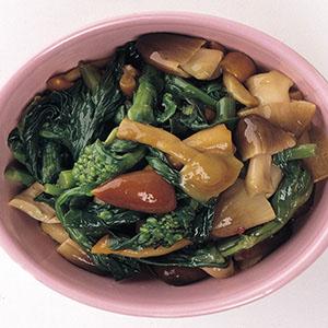 油菜花菇蕈泡菜