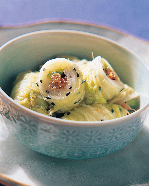 食譜:大白菜芝麻卷泡菜
