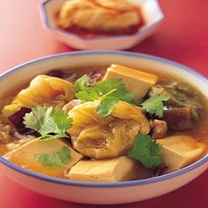 高麗菜結燉豆腐