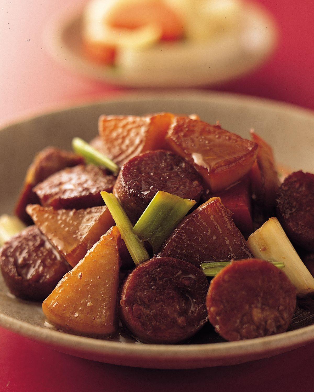 食譜:泡菜炒素香腸