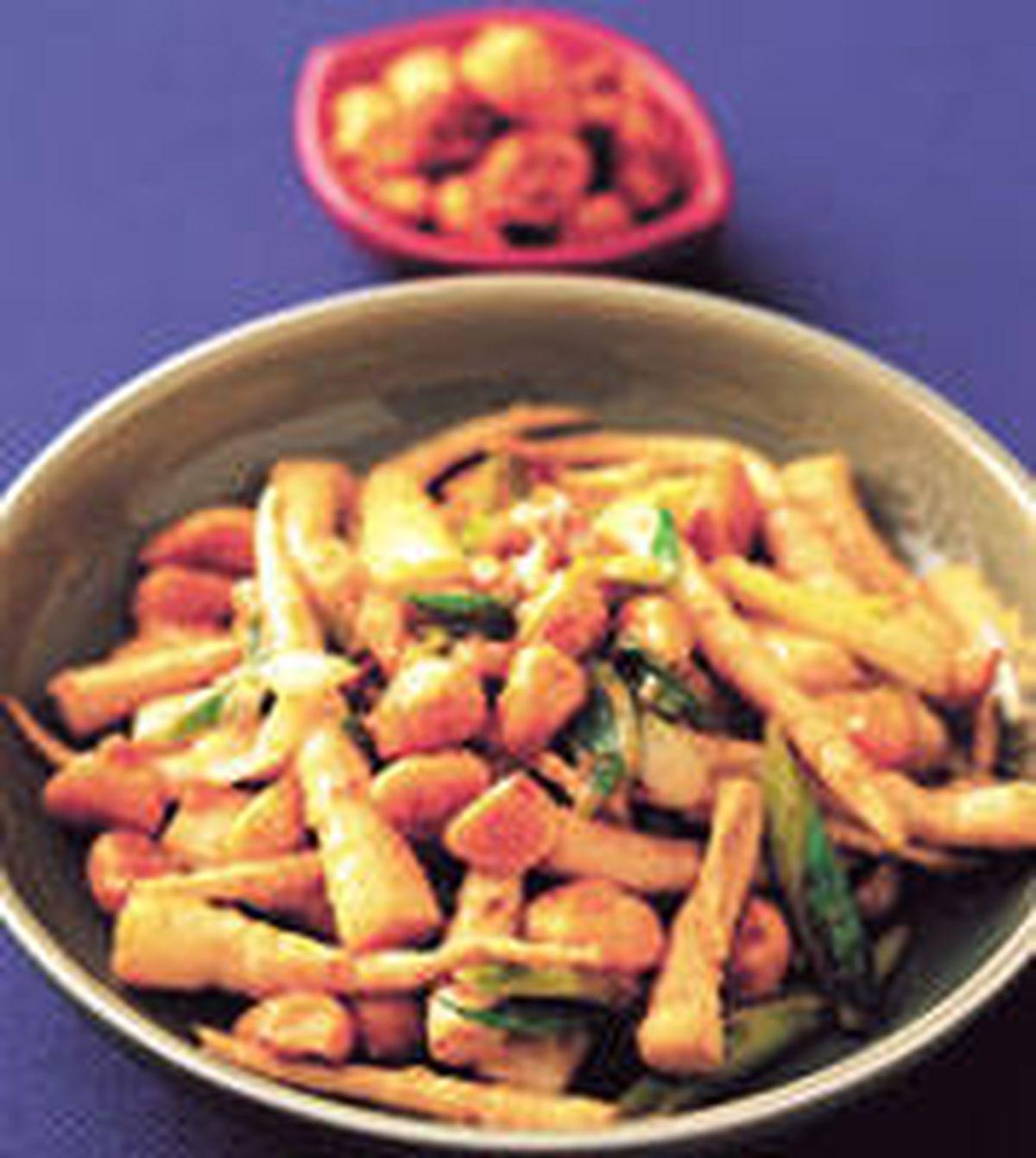 食譜:大蒜炒劍筍