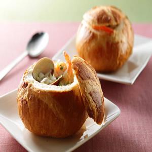 巧達海鮮麵包湯(1)