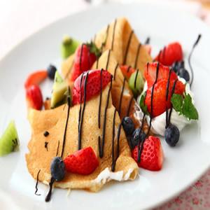 草莓可麗餅