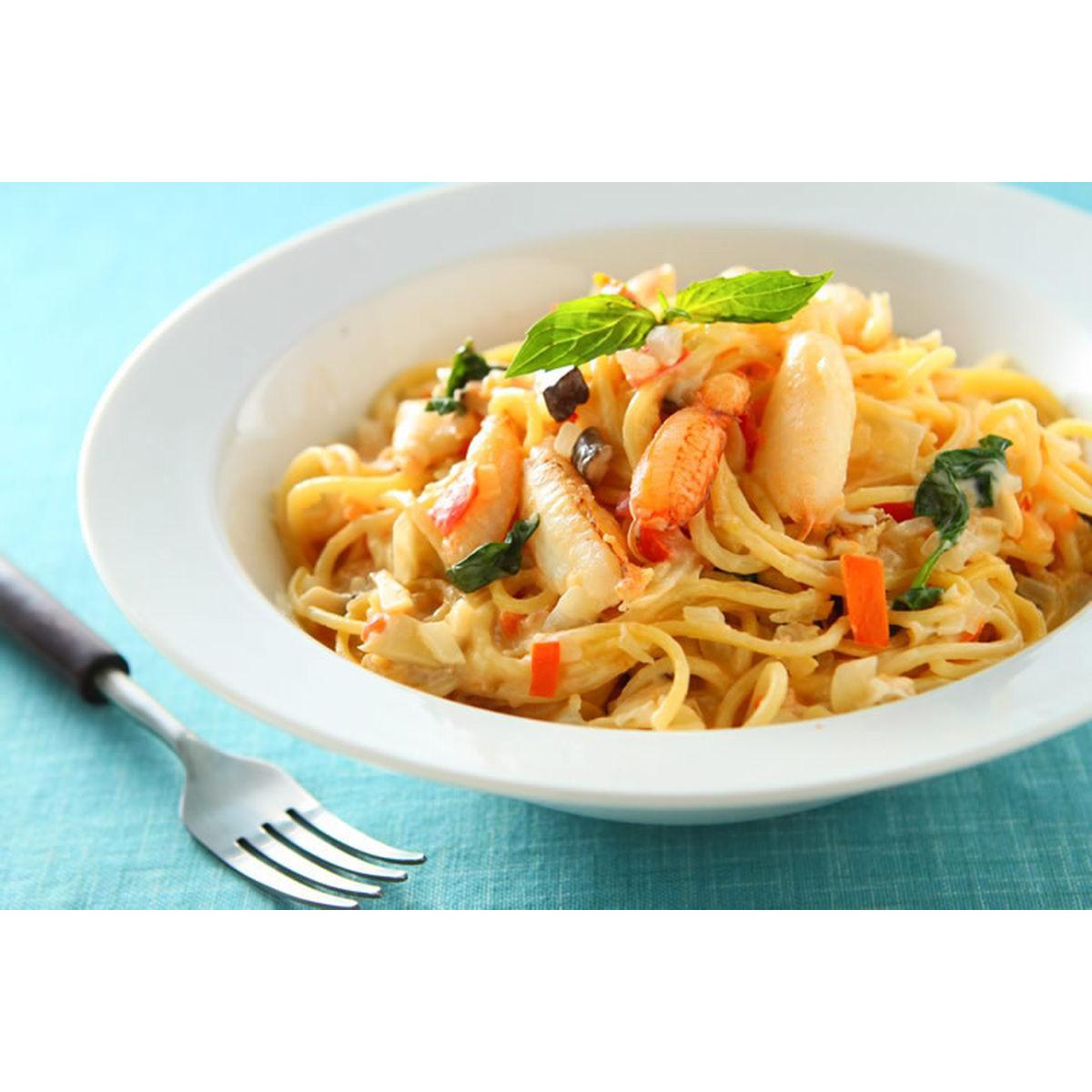 食譜:蟹肉奶油義大利麵(1)