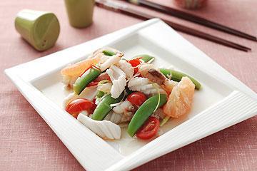 食譜:葡萄柚海鮮沙拉