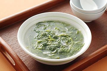 食譜:莧菜吻仔魚羹(3)