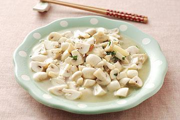 食譜:白酒炒洋菇