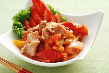 食譜:五彩蕃茄肉片(1)