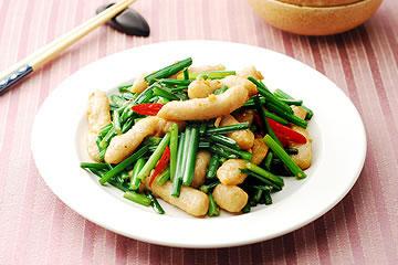 食譜:韭菜炒甜不辣(1)