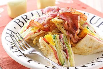 食譜:烤總匯三明治
