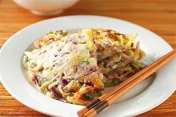 食譜:地瓜櫻花蝦煎餅