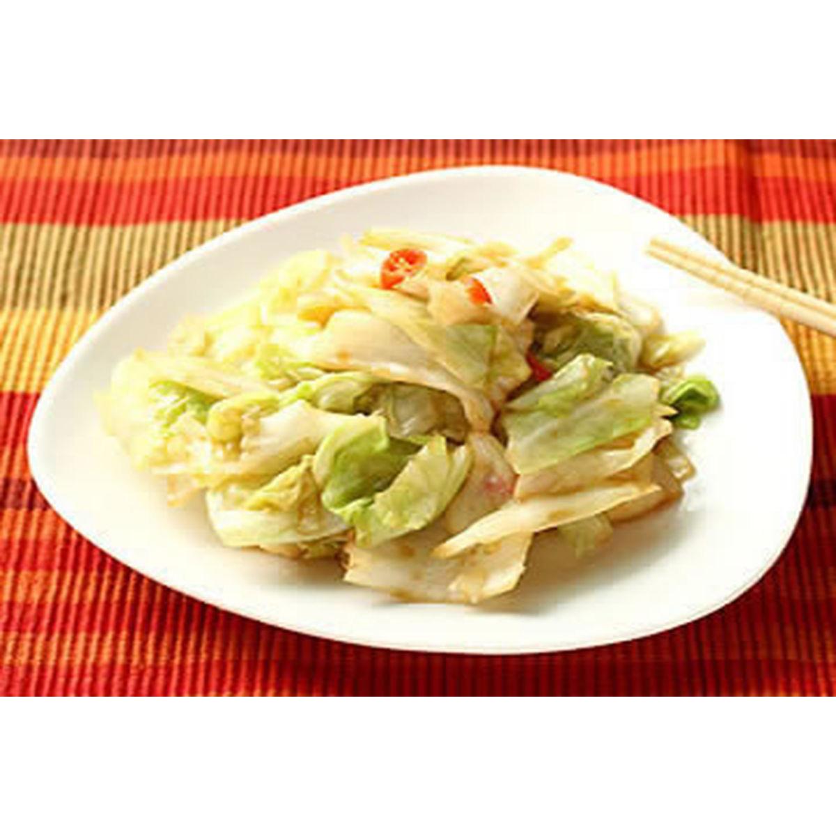 食譜:蠔油炒高麗菜