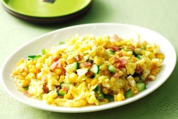 食譜:玉米火腿炒蛋(1)