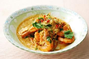 食譜:椰汁咖哩蝦(1)