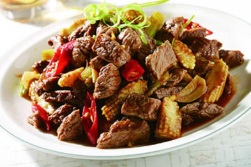 食譜:牛肉炒芹菜(1)