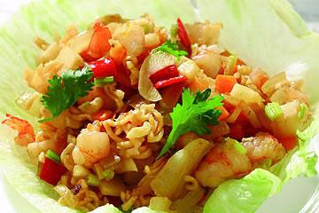 食譜:泡麵炒蝦鬆(2)