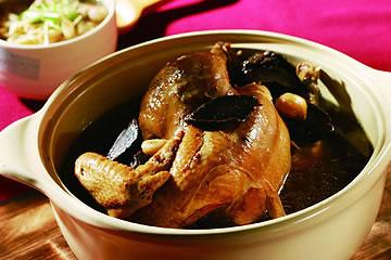 食譜:老菜脯燉雞湯