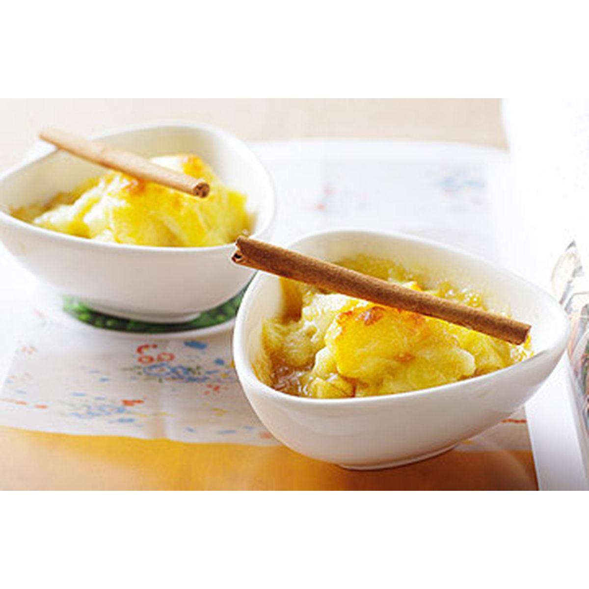 食譜:炒焦糖肉桂蘋果焗美奶滋