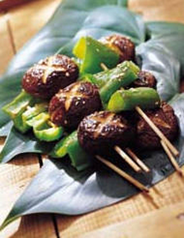 食譜:香菇青椒串烤