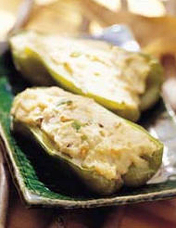 食譜:青椒鑲馬鈴薯泥