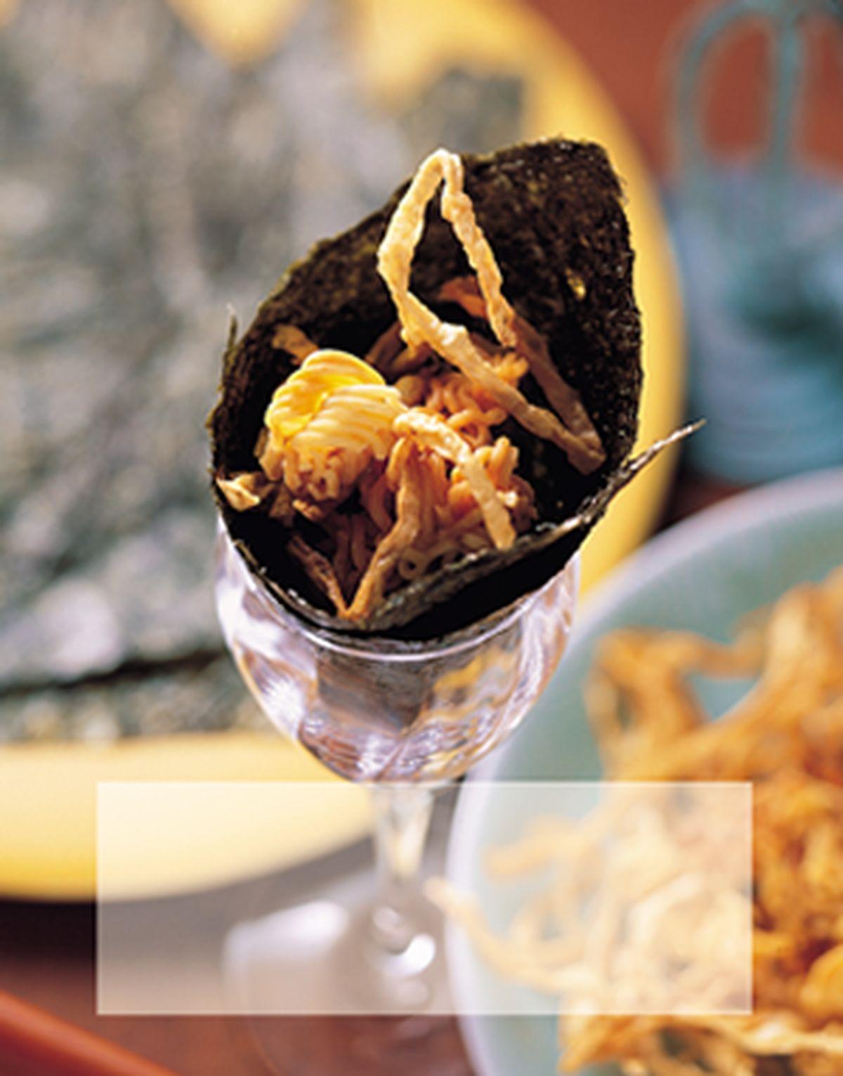食譜:香絲脆麵手卷