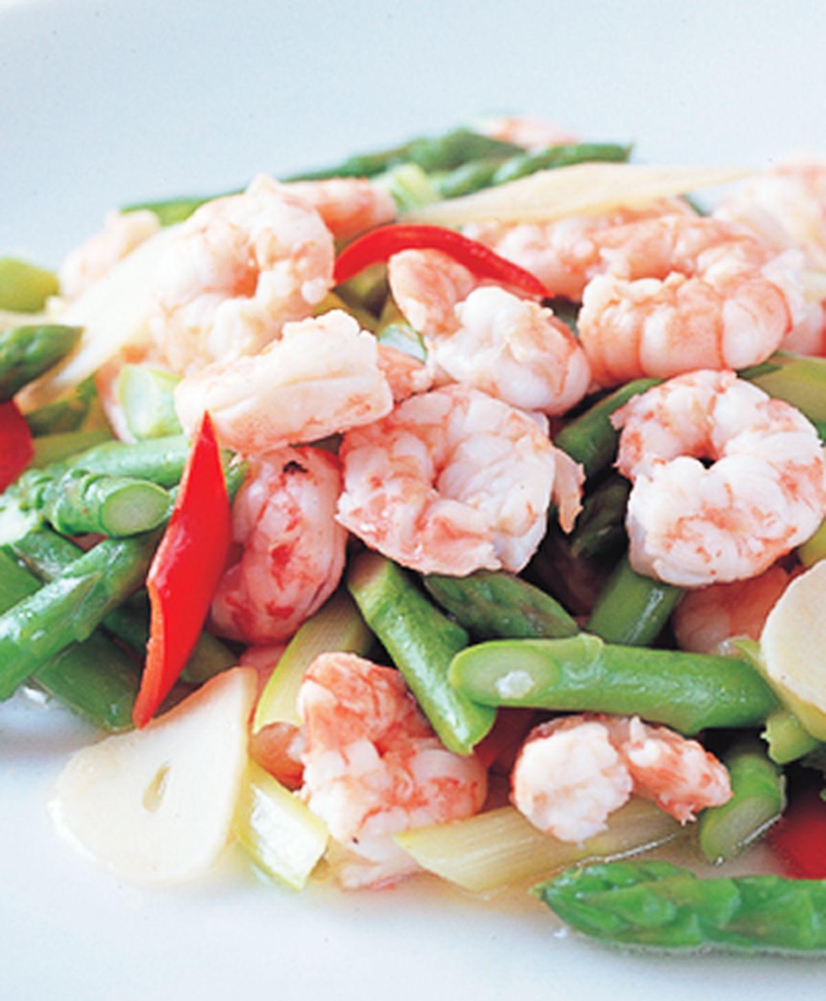 食譜:蘆筍炒蝦仁