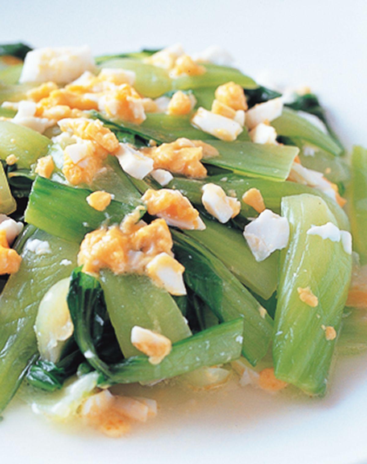 食譜:鹹蛋炒青江
