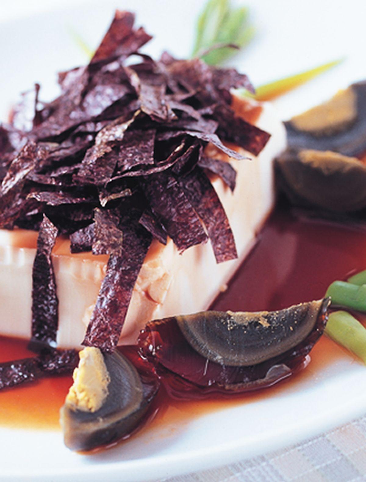 食譜:皮蛋紫菜拌豆腐