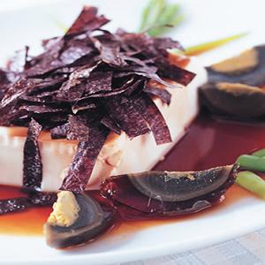 皮蛋紫菜拌豆腐