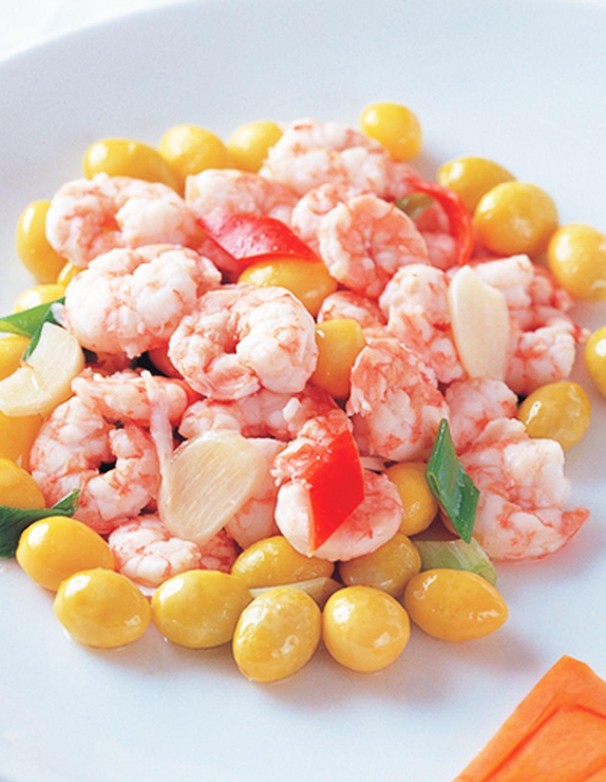 食譜:白果炒蝦仁