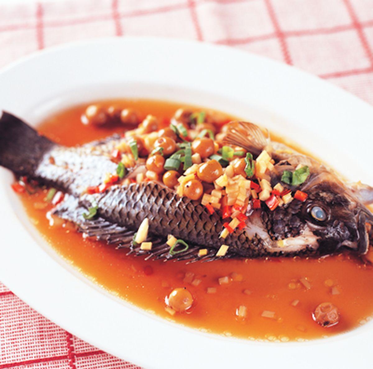 食譜:樹子蒸魚