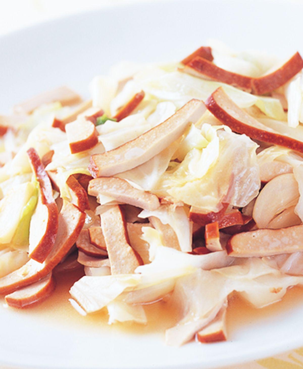 食譜:豆干炒高麗菜