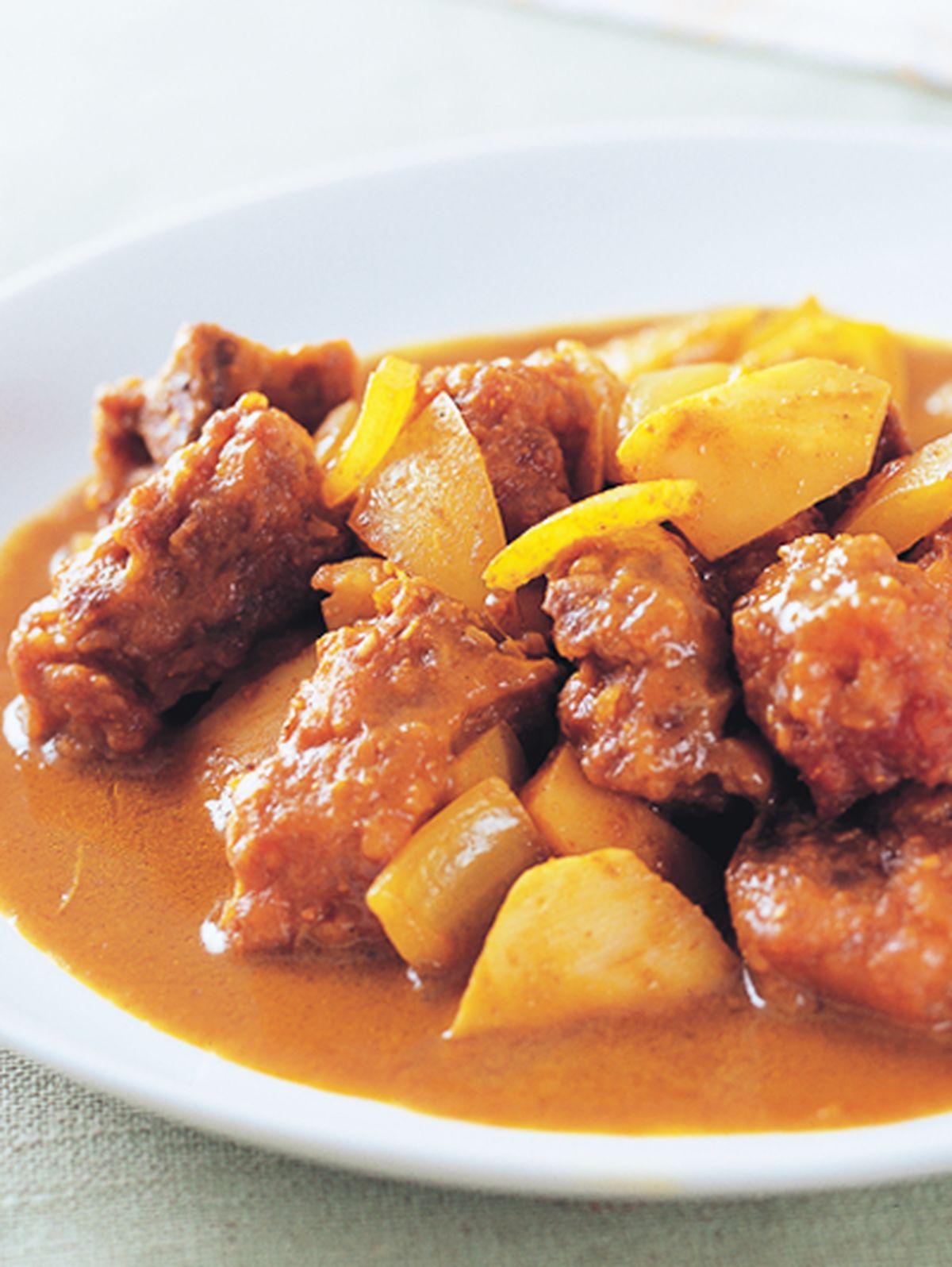 食譜:咖哩燒小排