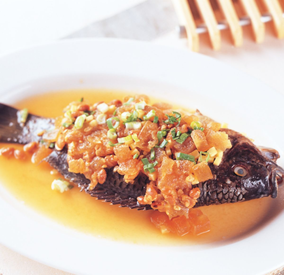 食譜:鹹冬瓜豆醬蒸魚
