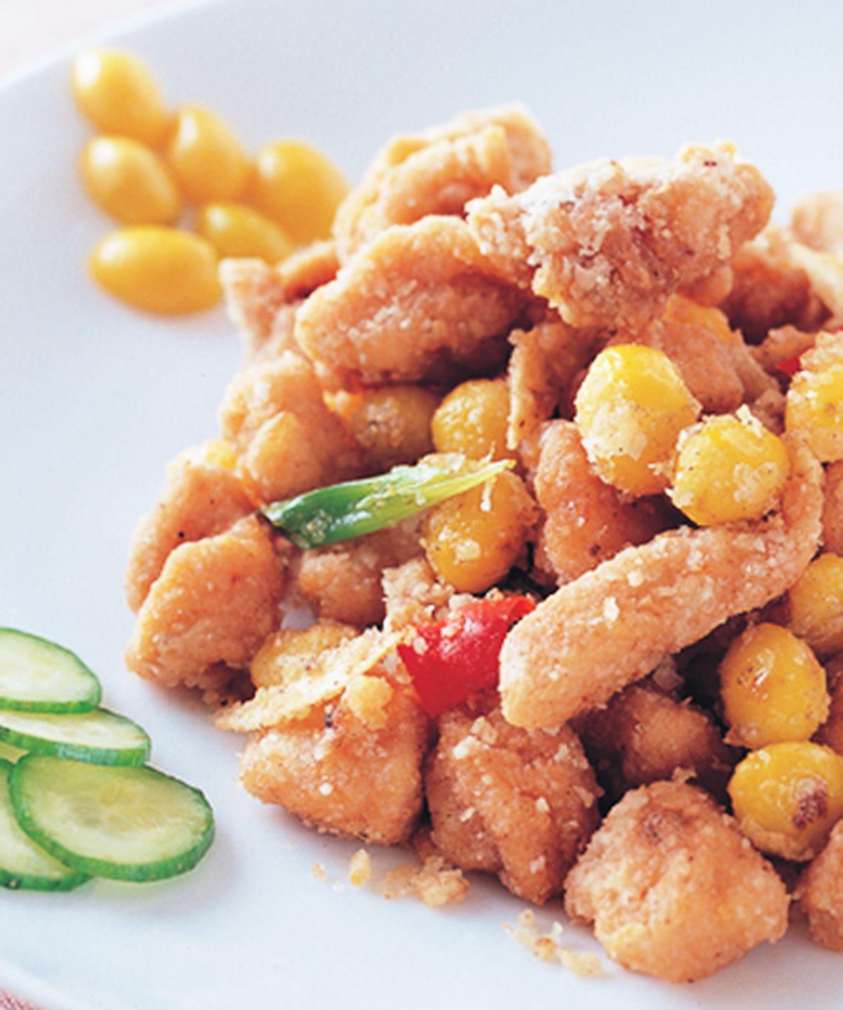 食譜:椒鹽白果雞丁