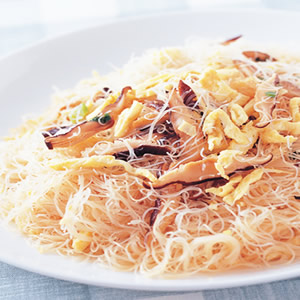 香菇蛋皮炒米粉