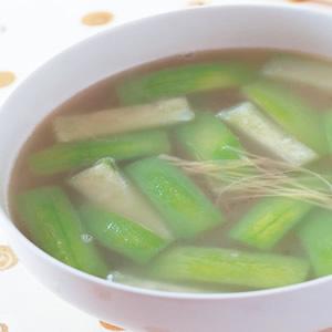 蝦皮薑絲絲瓜湯