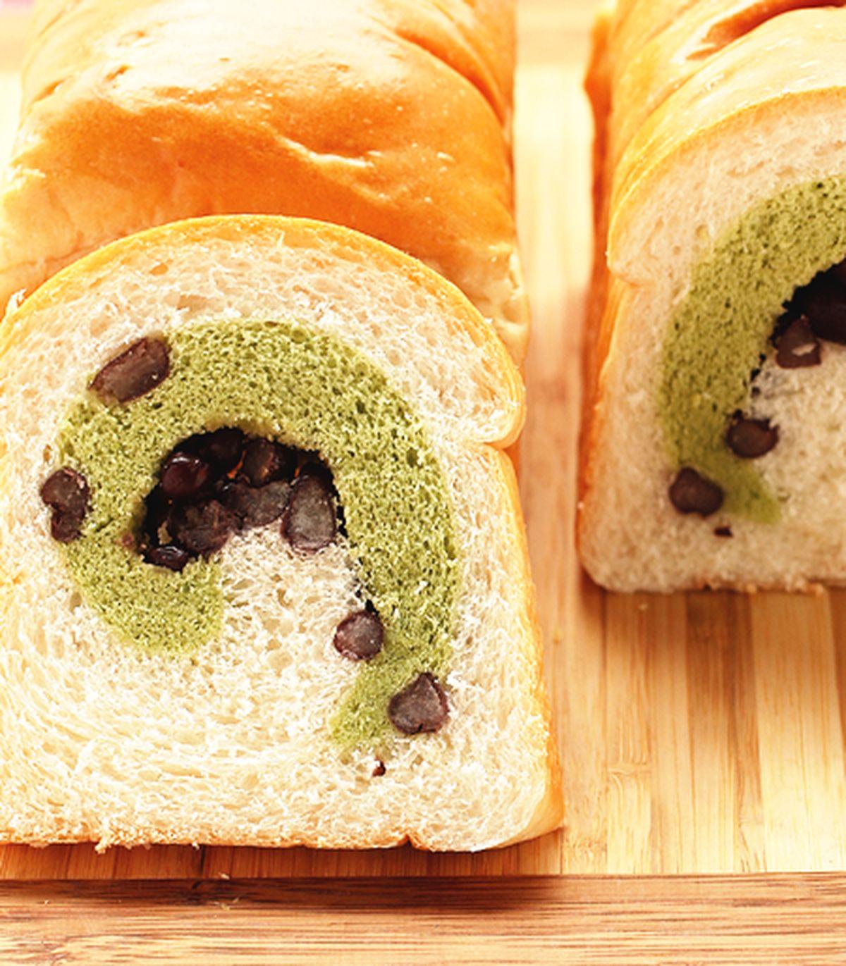食譜:宇治金時蛋糕土司