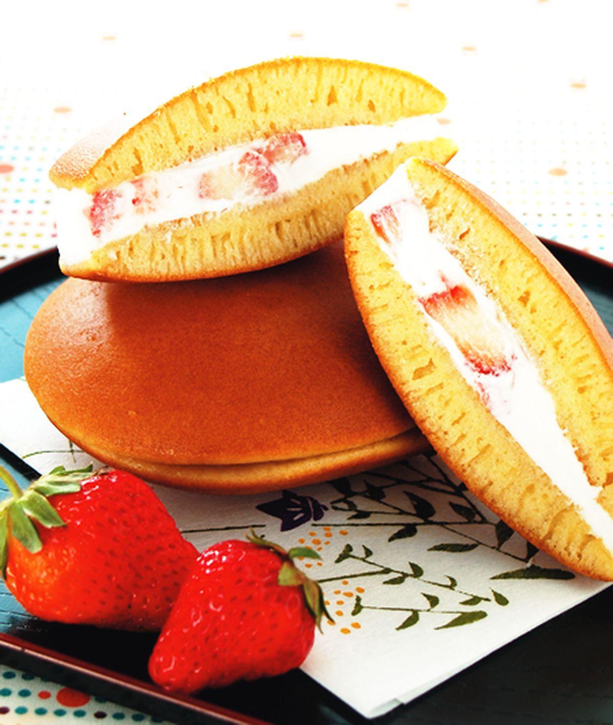 食譜:微醺草莓銅鑼燒