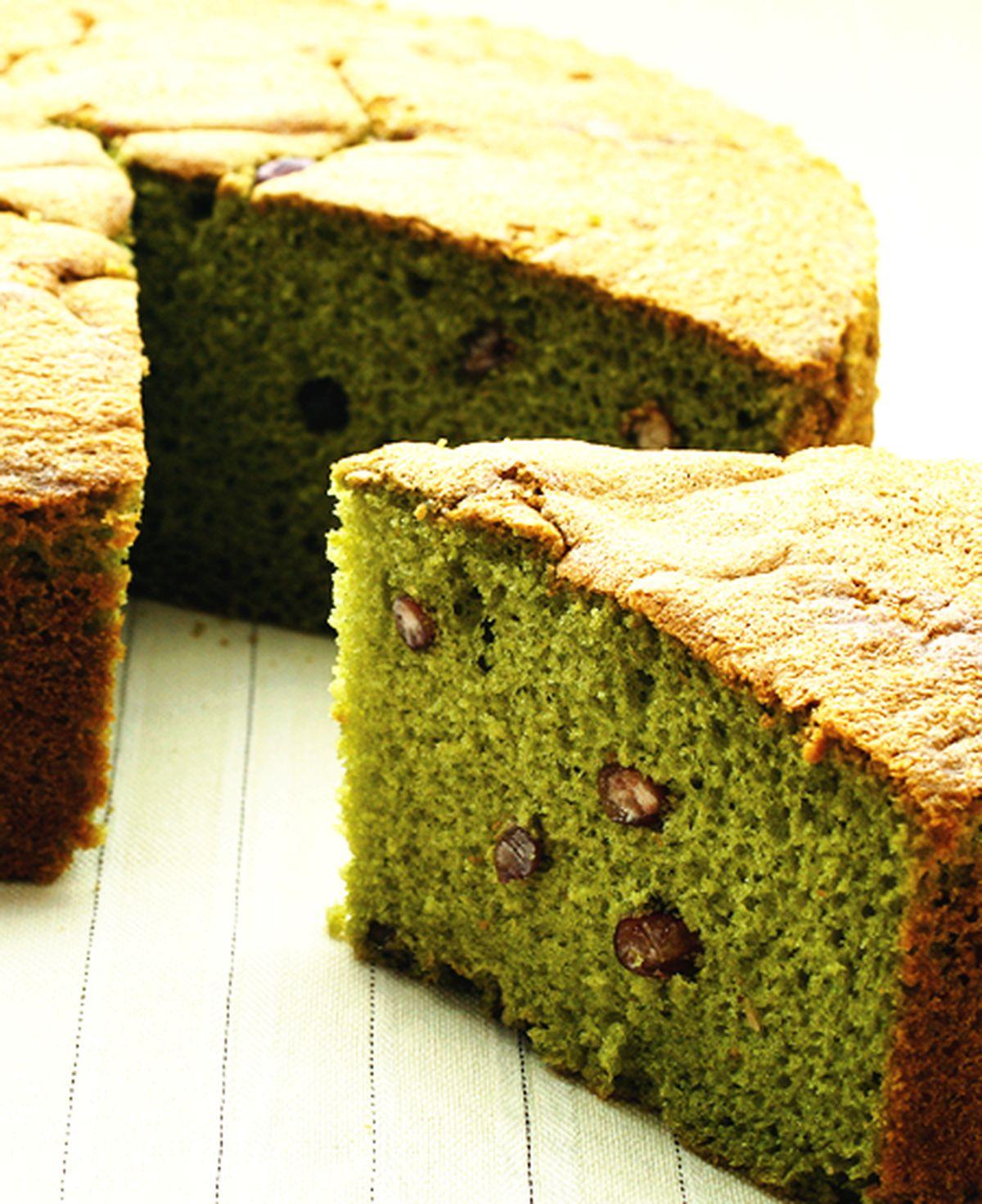 食譜:抹茶紅豆蛋糕(1)