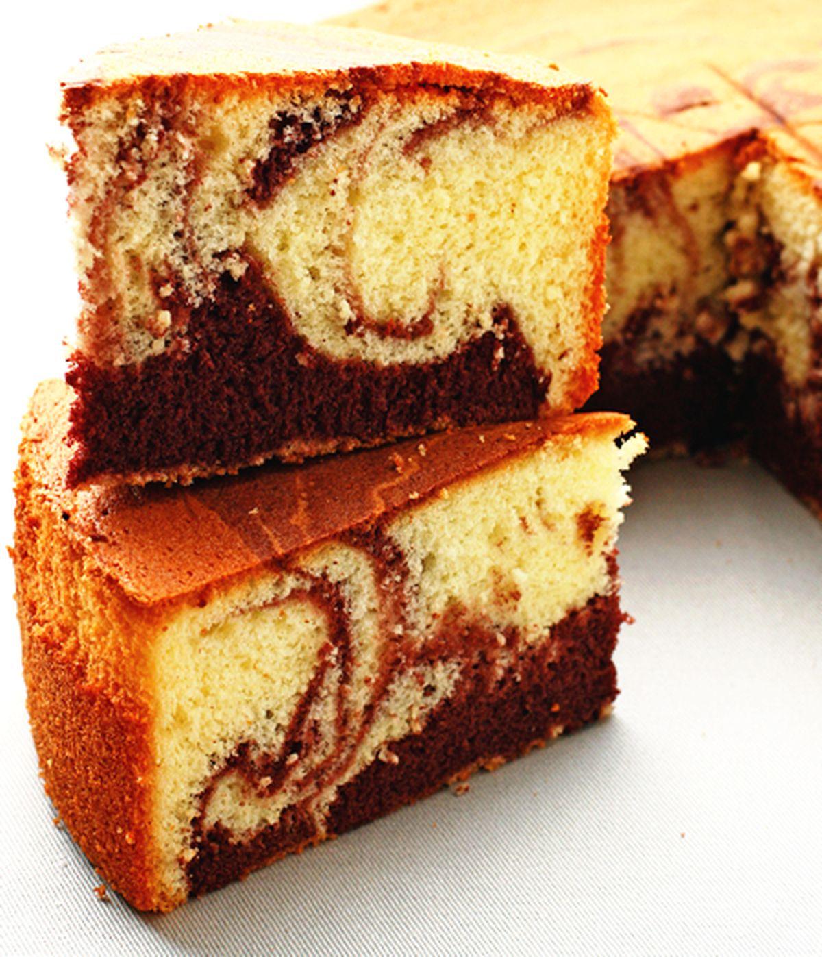 食譜:大理石海綿蛋糕