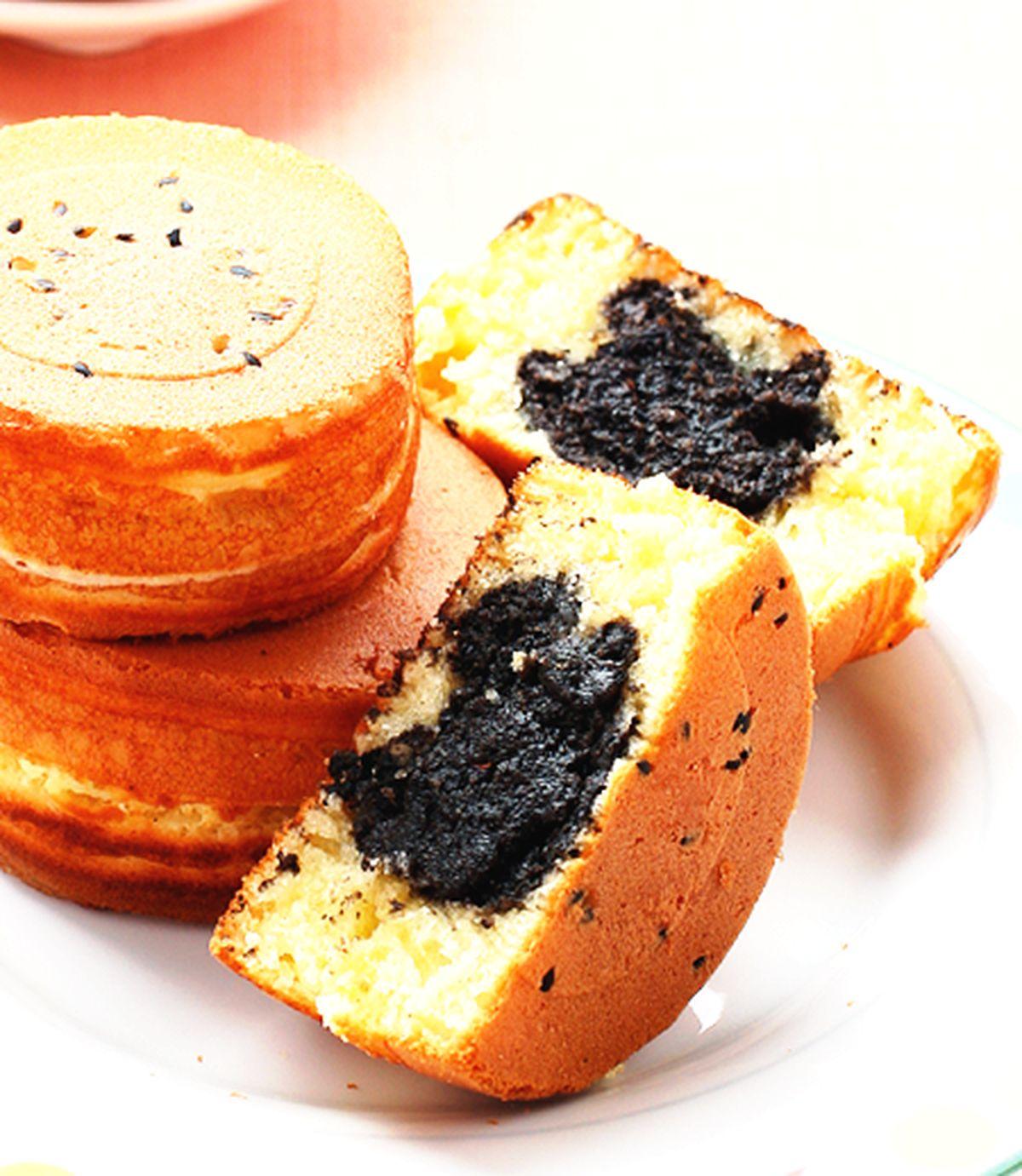 食譜:黑芝麻車輪餅