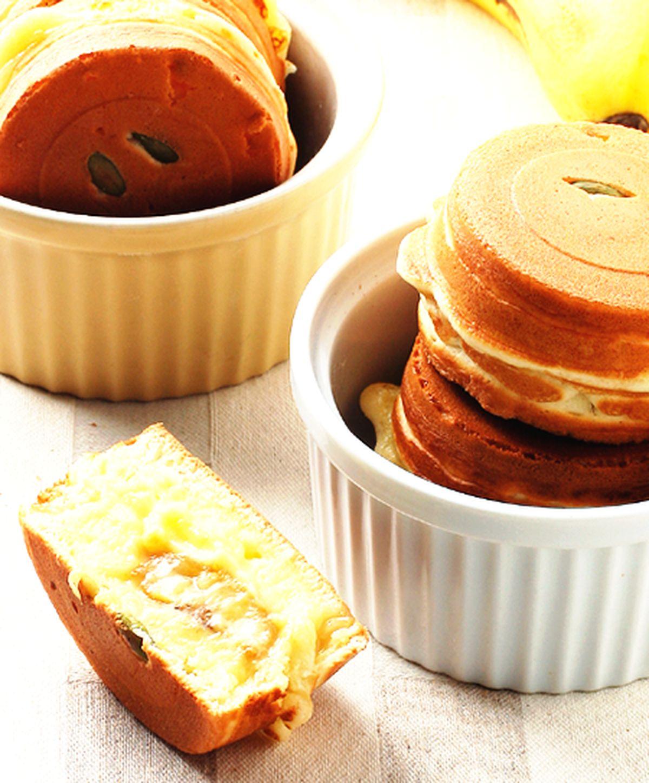 食譜:焦糖香蕉車輪餅