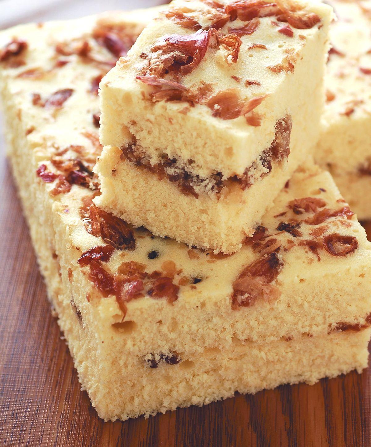 食譜:油蔥肉燥鹹蛋糕