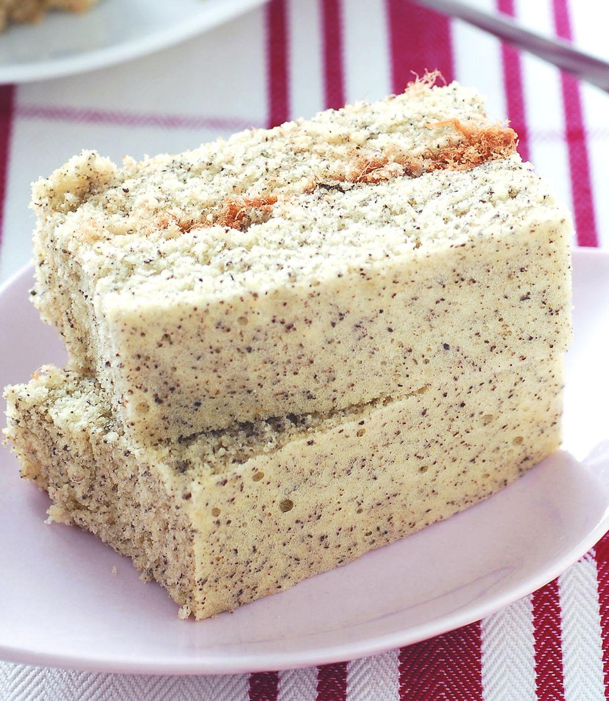 食譜:芝麻鹹蛋糕