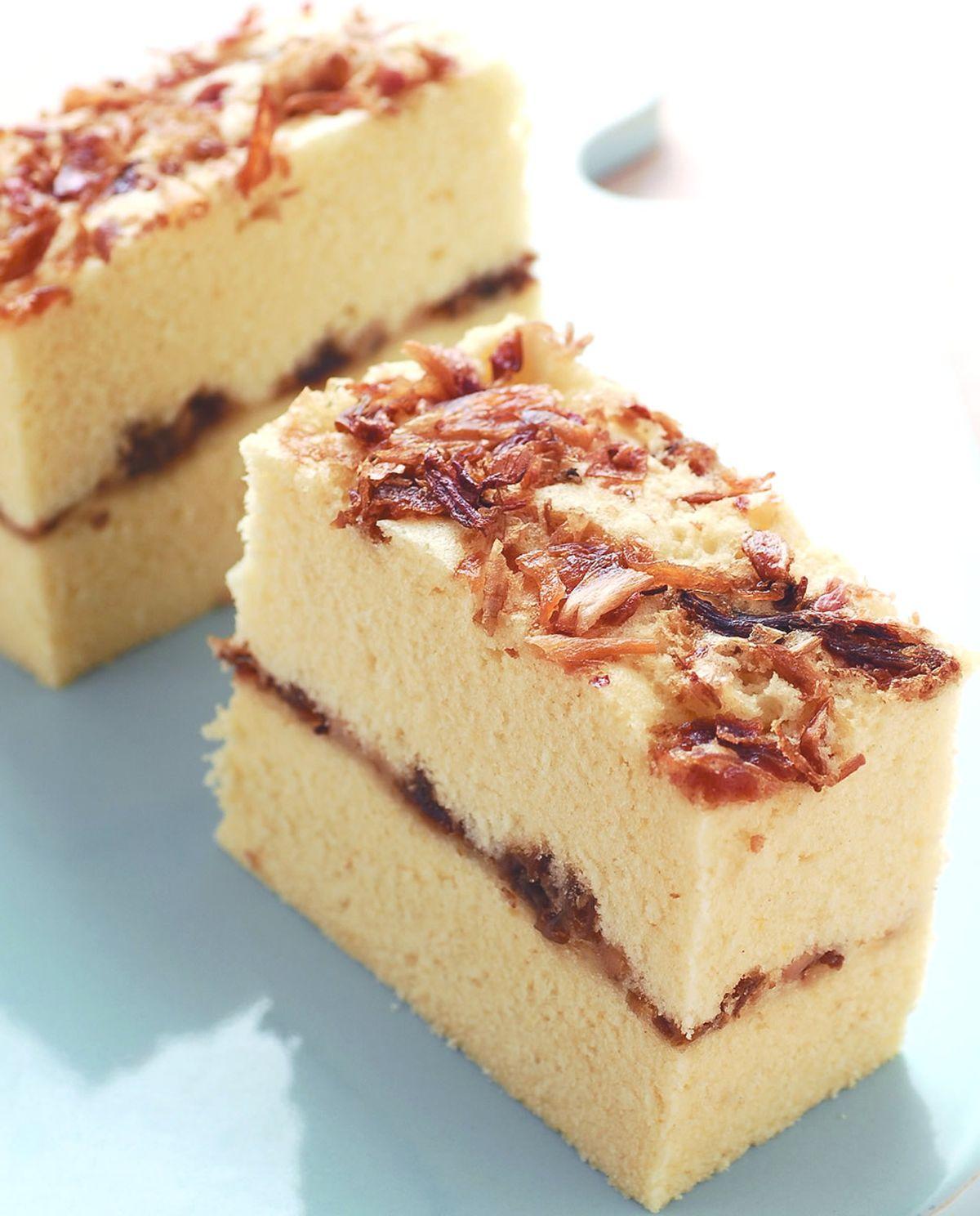 食譜:筍香鹹蛋糕